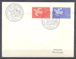 France Enveloppe Premier Jour YT N°1309/1310 Europa 1961 - FDC