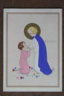 ANGELI ----BAMBINI   -- 1937 -  DIPINTA A MANO  --BELLISSIMA - Angeli
