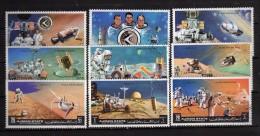 Ajman State °-1972, .  Storia Dello Spazio - Futuro.  9 Valori Completa     Used.  Vedi Descrizione - Ajman