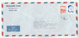 1980s Air Mail  SYRIA DROGUERIE SYRIE Co COVER Stamps To BAIRD ATOMIC Co GB Nuclear Health Medicine - Syria