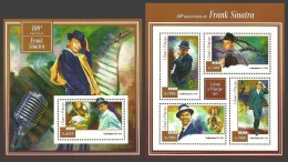 ST THOMAS AND PRINCE 2015 FILMS MUSIC FRANK SINATRA SMOKING SHEETS MNH - Sao Tome And Principe