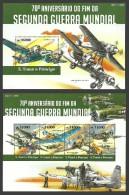 ST THOMAS AND PRINCE MILITARY WAR WWII AIRCRAFT SPITFIRE MESSERSCHMITT MNH - Sao Tome And Principe