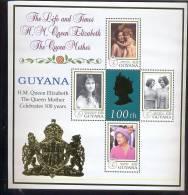 GUYANA  3433  MINT NEVER HINGED SHEETS OF QUEEN MOTHER 100   #  109-1*   ( - Koniklijke Families