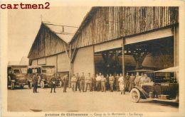 CHATEAUROUX BASE D'AVIATION LE CAMP DE LA MARTINERIE LE GARAGE AVIATEURS AVION ESCADRILLE AUTOMOBILE 37 - Chateauroux