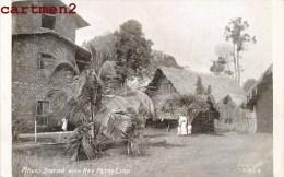 RARE CPA : COMORES MKAZI STATION WITH REV PETRO LIMO DOM-TOM MAYOTTE AFRIQUE - Comores