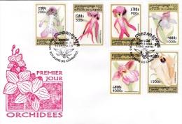 Cambodia FDC 1999 Orchids     (G79-54)