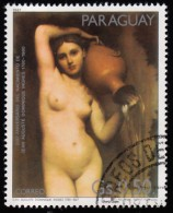 PARAGUAY - Scott #2014b The Turkish Bath By Dominique Ingres / Used Stamp - Nudi