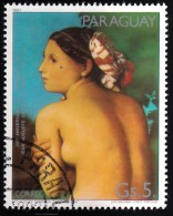 PARAGUAY - Scott #2014g The Bathing Buty By Dominique Ingres / Used Stamp - Nudi
