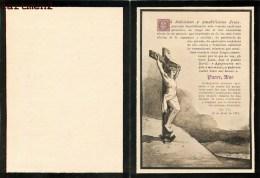 FAIRE-PART DE DECES Don Alejandro Avial Y Pena Image Pieuse Christ Religionpar Stern Graveur A Paris 1896 - Décès