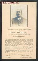 FAIRE-PART DE DECES HENRY HAGUET A. ROBLOT RUE CAUMARTIN PARIS  PHOTOGRAPHIE ANCIENNE - Todesanzeige
