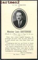 FAIRE-PART DE DECES MONSIEUR LOUIS GOUTTENOIRE A ROANNE LOIRE 42 SAUZET - Décès