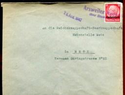 81589 - OCCUPATION ALLEMANDE - 1 TP, Surchargé LORRAINE, Tarif  12 Pf, Oblitération ARSWEILER WESTMAR... Aug 1941 TB - Marcophilie (Lettres)