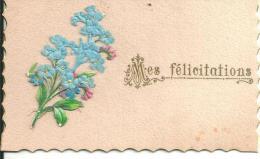 Image   Fleurs Mes Félicitations - Old Paper