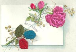 Image   Fleurs  Gauffrée Amitié Sincere - Old Paper