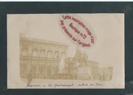 L1653 - ROME - ROMA - Carte Photo - Le Quirinal Palais Du Roi - Italie - Ohne Zuordnung