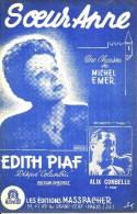 Soeurs Anne. Edith Piaf. - Partitions Musicales Anciennes