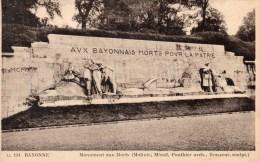 BAYONNE MONUMENT QUX MORTS - Monumenti