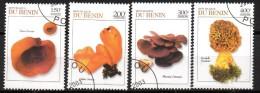 Lot de 4 timbres - non r�pertori�   -oblit�r� - Champignons - BENIN