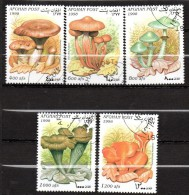 Lot de 5 timbres - non r�pertori�   -oblit�r� - Champignons - AFGHANISTAN