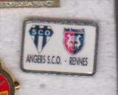 Pin's  ANGERS SCO RENNES - Voetbal