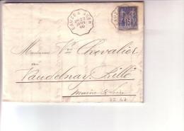 Convoyeur Eauze à Agen Gers Lot Et Garonne Pour Vaudelnay Rillé Maine Et Loire 1890 Sur Facture De Condom - Postmark Collection (Covers)