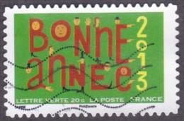 """Oblitération Moderne Sur Autoadhésif De France N°  772 - Lettres En Forme De Bonhomme Issu Du Carnet """"voeux"""" - France"""