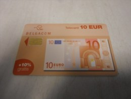 BELGIUM - nice SA chip on banknote 10 euro - red number on back
