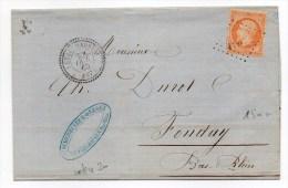 1865 - RARE LETTRE De LUTZELHOUSE / LUTZELHAUSEN (BAS RHIN) Avec GC 4604 + TYPE 22 (INDICE 20) - Marcophilie (Lettres)