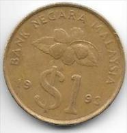 *malaysia 1 Ringgit 1993  Km 64  Xf+ - Malaysie