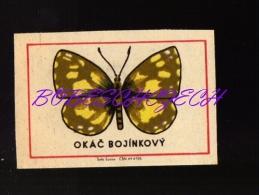 12-12 CZECHOSLOVAKIA 1968 Melanargia Galathea Marbled White Medioluto Norteña  Mariposa Schmetterling Butterfly - Matchbox Labels