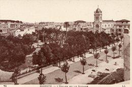 B18014 Bizerte, L'eglise Et Le Square - Tunisie