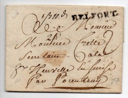 1777 - LETTRE De BELFORT (INDICE 10) Avec MARQUE LENAIN 5 - 1701-1800: Precursors XVIII