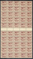 UPPER SILESIA 1920 Definitive 3 Pfg. In Block Of 50 With 5 Gutter Pairs MNH / **.  Michel 14a - Germany