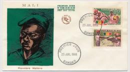 MALI - Enveloppe FDC => Pionniers Maliens - Bamako - 25 Juillet 1966 - Mali (1959-...)