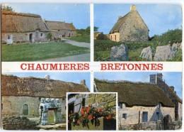 Couleurs Et Lumière De Bretagne - Chaumières Bretonnes- écrite Non Timbrée - 2 Scans - Bretagne