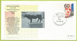 Pays-Bas Nederland 1980 1124 FDC Pieter Oud Politicien Oss Statue Taureau Oblitération Taureau - Vaches