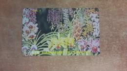 Hawaii-greden Flowers-used Card-tirage-5.000-+1card Prepiad Free - Hawaï
