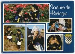 Sourires De Bretagne - Enfants En Costumes Bretons - écrite Et Timbrée - 2 Scans - Bretagne