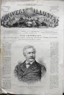 UNIVERS ILLUSTRÉ N° 775 / 20-11-1869 LESSEPS PARIS ÉLECTIONS HALLE JOURNAUX BISBAL LOUXOR SUEZ HASBEYA ARCHE JERUSALEM - 1850 - 1899