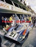 Photographie De La Porsche Martini 917LH Aux 24H Du Mans De 1971 - Repro's