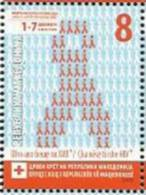 MK 2012-ZZ163 RED CROSS AIDS, MACEDONIA, 1 X 1v, MNH - Macedonië