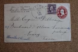 Enveloppe Cover Entier Postal 2 Cents Pour Nancy Oblitération Eales 1914 - Entiers Postaux