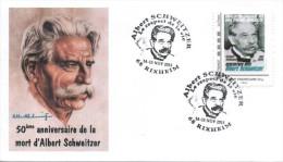 FRANCE 2015 FDC + Cachet + MonTimbraMoi MTAM SCHWEITZER Rencontres AFAAS Rixheim Nobel 3 - Albert Schweitzer