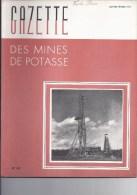 Gazette des mines de Potasse -1952 Janvier - f�vrier n�63