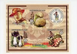 Scoutisme-champignons-Mali-1997-B69***MNH-NON Dentel�