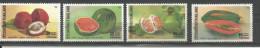 Thailand Mint MNH Stamp,1986, SCOTT 1145/1148 , Fruits tha�s ** / Thai fruits, Orange, Pappaya,Watermelon