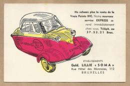 """-** Etabl.Gold.LILLIE"""" SOMA"""" -  **-  """""""" La Vraie Pointe BIC -nouveau Service EXPRESS - Buvards, Protège-cahiers Illustrés"""