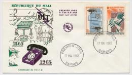 MALI - 2 Enveloppes FDC => Centenaire De L'U.I.T - Bamako - 17 Mai 1965 - Mali (1959-...)