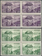 "Viererblocks  ""Ratsherr""  (20 F. + 40 F.)             1946 / 48 - Neufs"