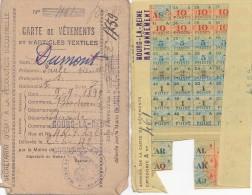 Vieux-Papiers - Carte De Rationnement Vêtements - Guerre 39-45 Bourg La Reine - Cartes